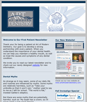 Art of Modern Dentistry Newsletter