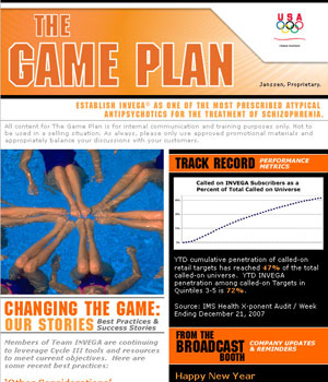 INVEGA Game Plan Newsletter